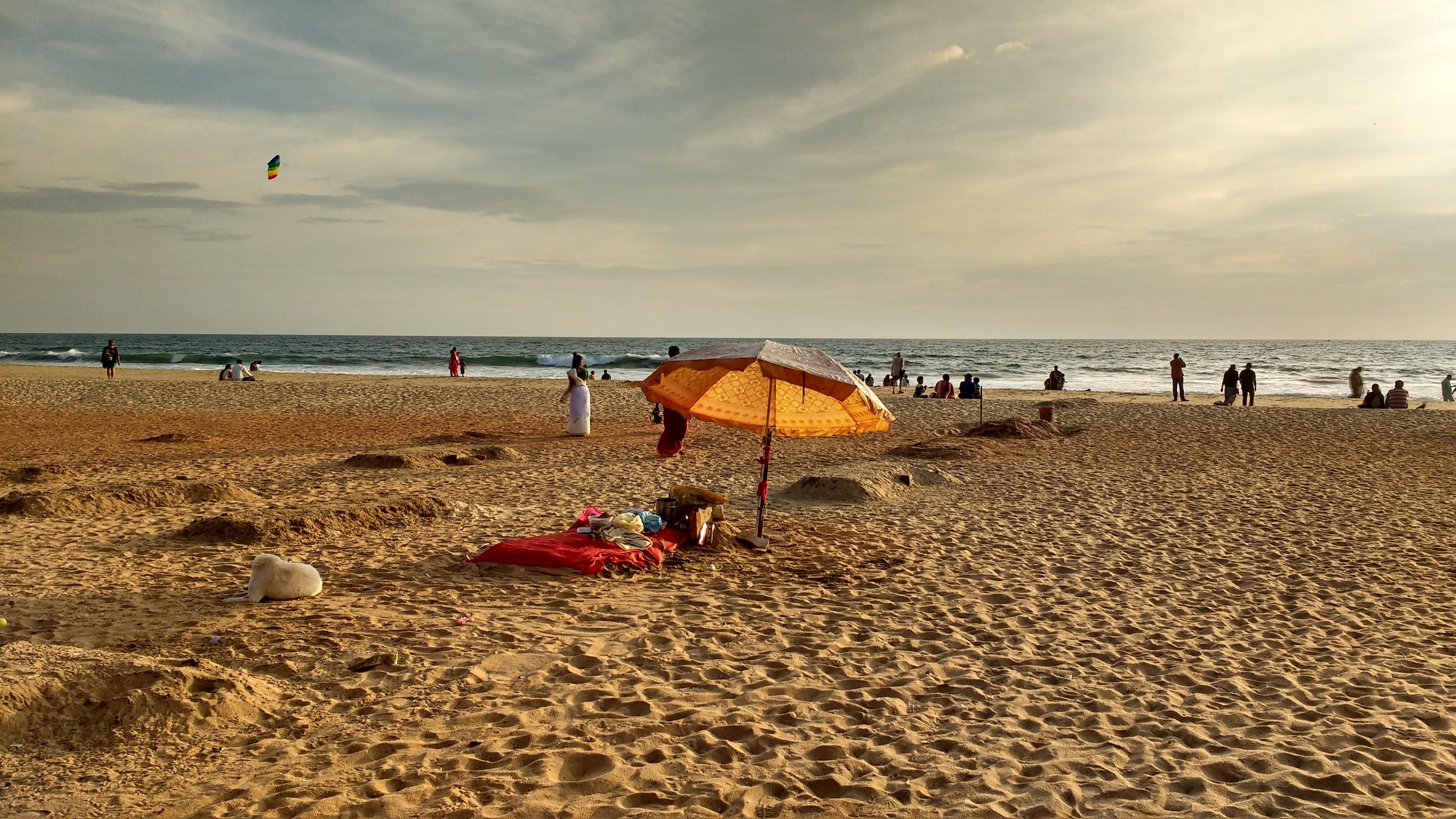 Papanasum Holy Beach, Varkala, Kerala, India