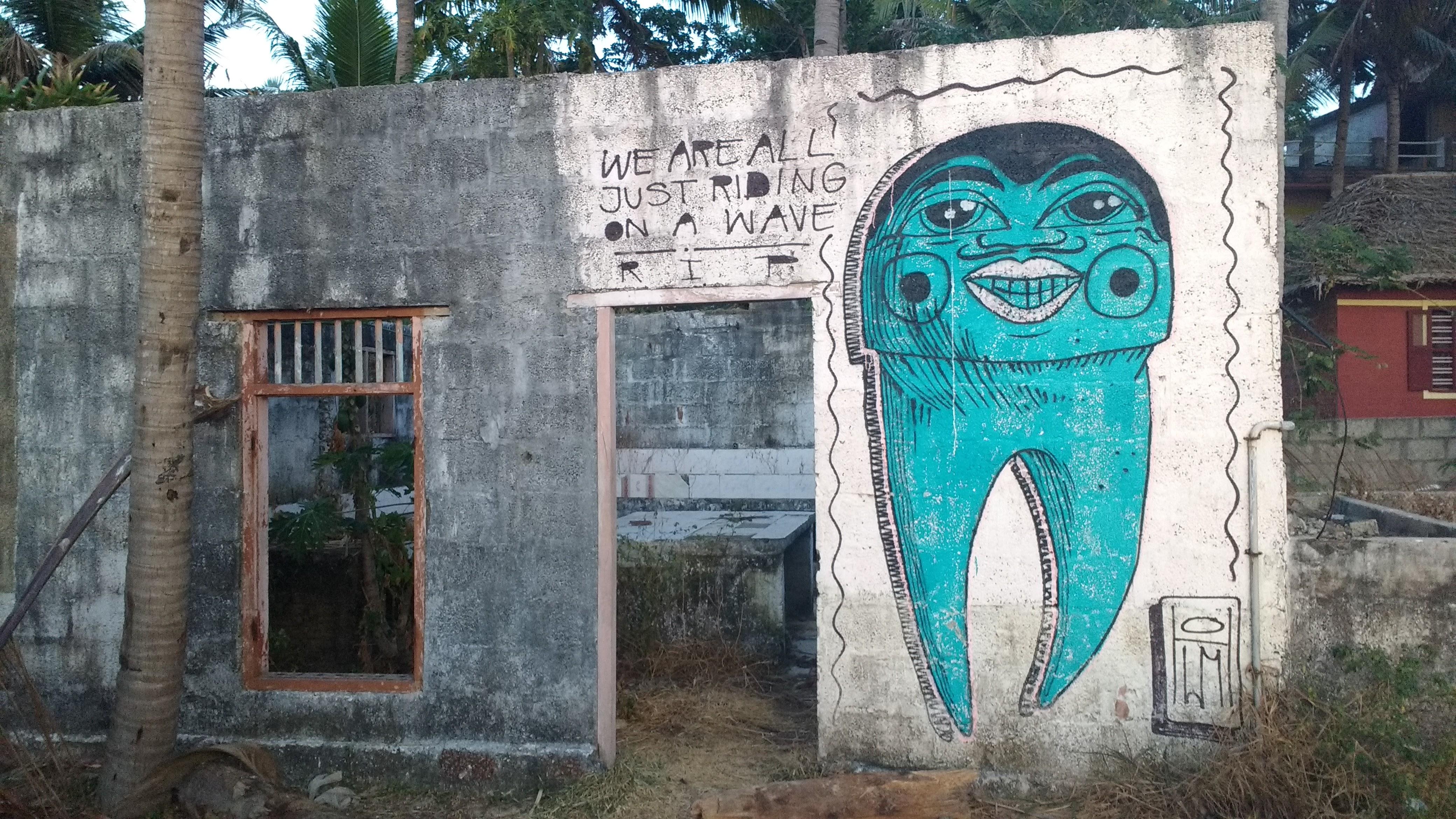Graffiti street art, Varkala, India