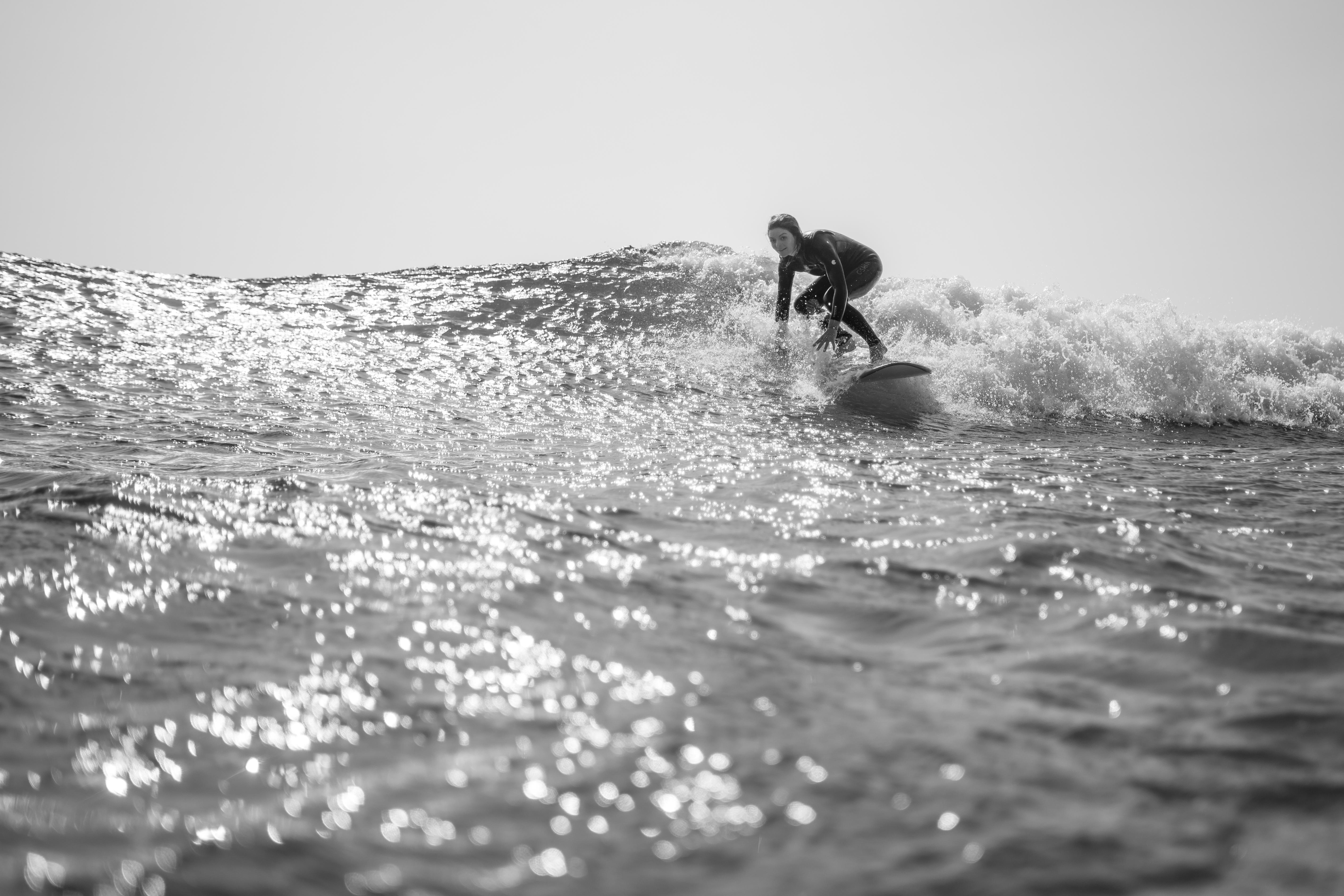 surf yoga portugal retreat saltwater yoga ROXY longboard waves soul healthy
