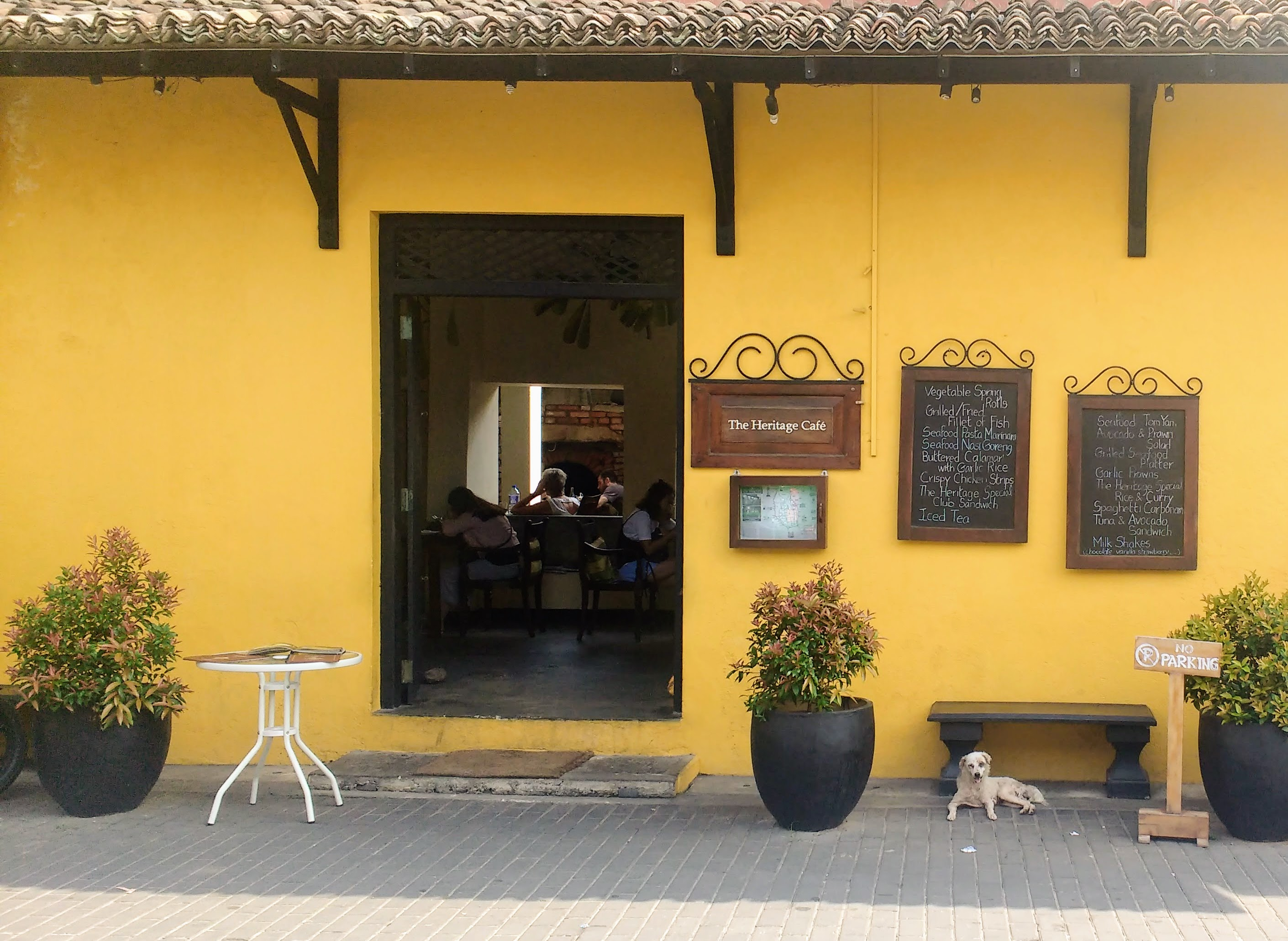 Heritage Cafe Galle Fort Saltwater Yoga