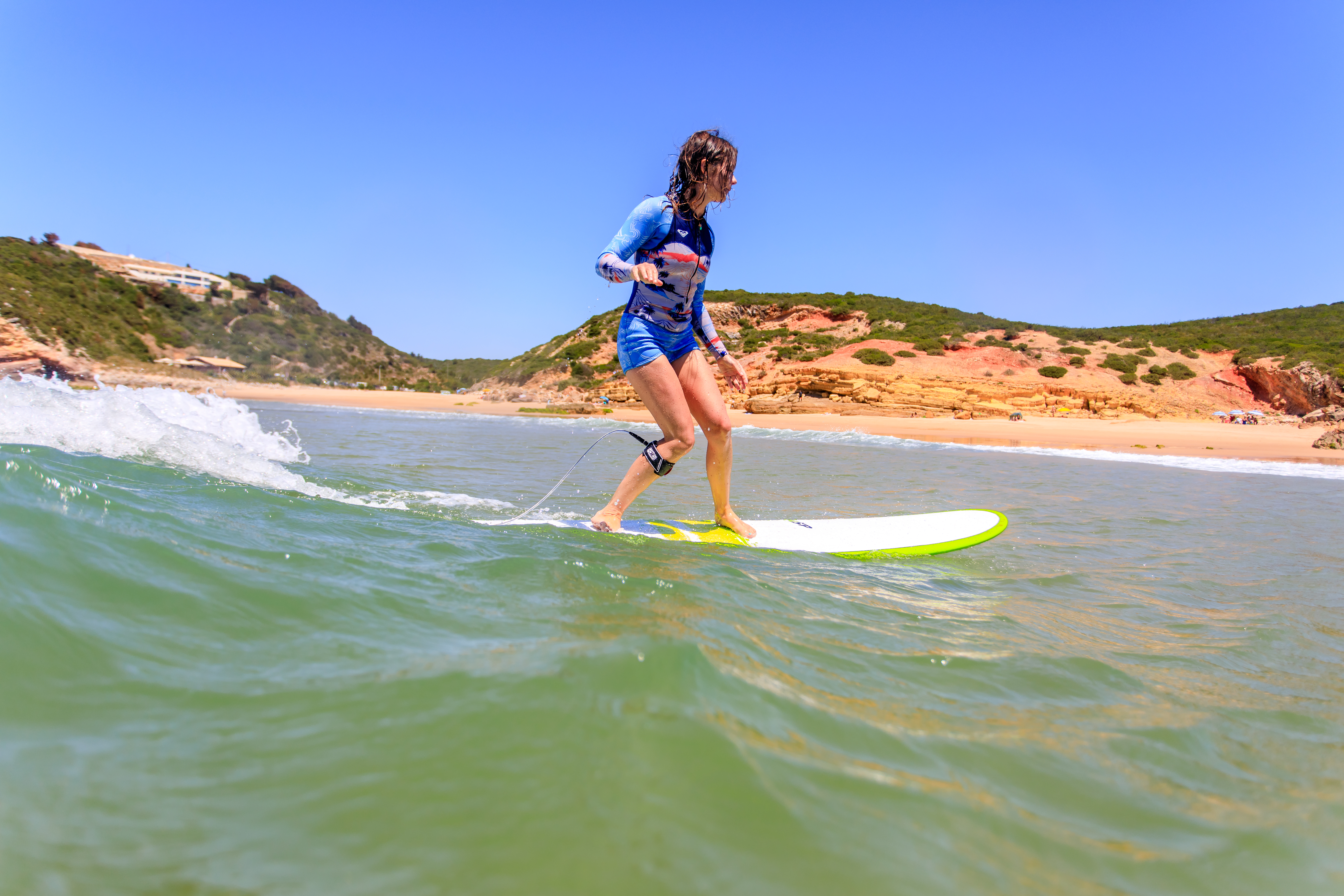 surf yoga portugal retreat saltwater yoga ROXY longboard waves soul healthy