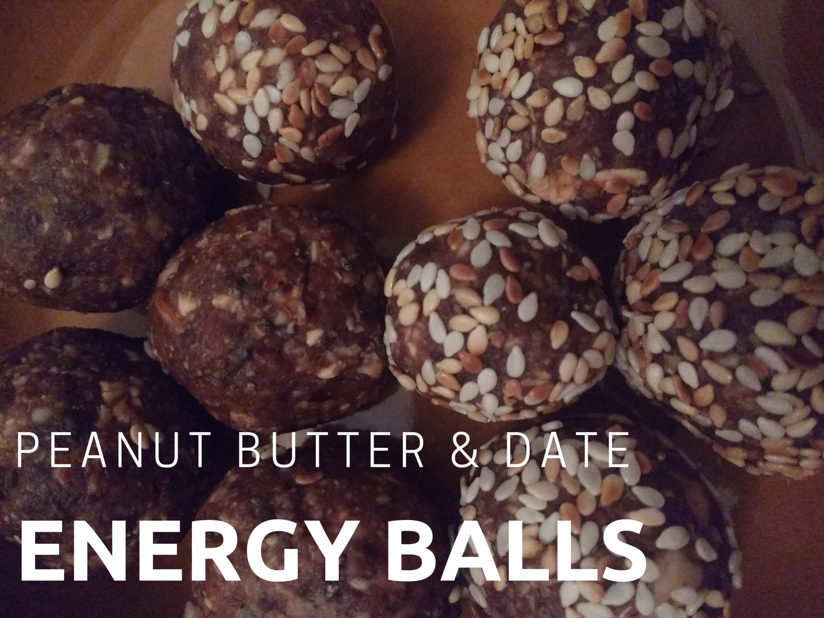 A quick, easy recipe for vegan date, peanut butter and oat energy balls