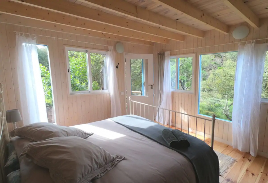 Double bedroom with nice woodland views